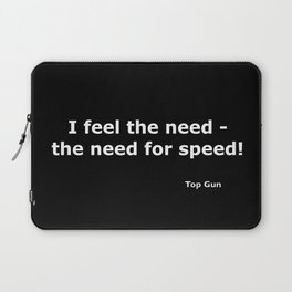 Top gun quote Laptop Sleeve