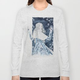 Snow Queen at the window Long Sleeve T-shirt