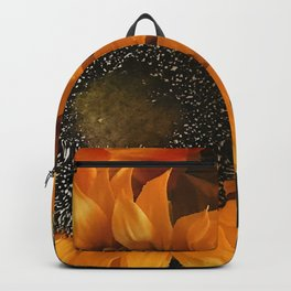Bright Orange And Vibrant Yellow Sunflowers  Backpack