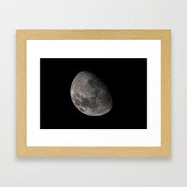 Quarter Moon Framed Art Print