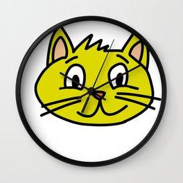 kitten three Wall Clock
