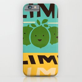 Lime Lime Lime iPhone Case
