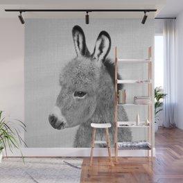 Donkey - Black & White Wall Mural