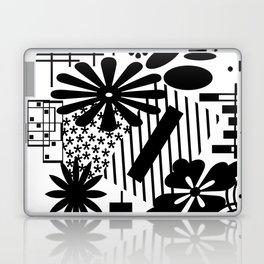 Black And White Flower Zentangle Laptop & iPad Skin