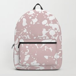 Blush Pink White Spilled Paint Mess Backpack