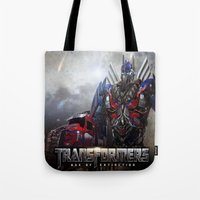 transformers Tote Bags featuring transformers  , transformers  games, transformers  blanket, transformers  duvet cover by ira gora