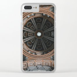 Looking Up - St. Peter's Basilica Clear iPhone Case