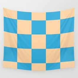 classic retro checked pattern Machyles Wall Tapestry