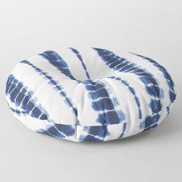 Indigo Blue Tie Dye Delight Floor Pillow