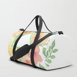Blooms around geometry Duffle Bag