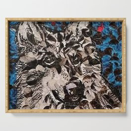 """"""" Wolf Hole Punch Art """" Serving Tray"""