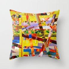 Jay (stripes 10) Throw Pillow