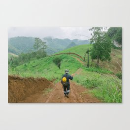 HILLY TRAILS Canvas Print