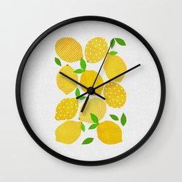 Lemon Crowd Wall Clock