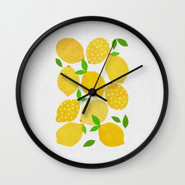 Lemon Crowd Wall Clock