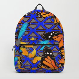 MODERN BUTTERFLY BLUE ABSTRACT WORLD Backpack