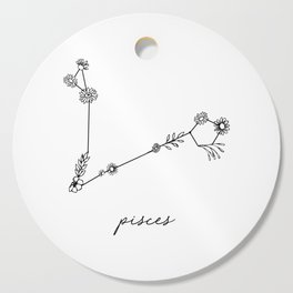 Pisces Floral Zodiac Constellation Cutting Board