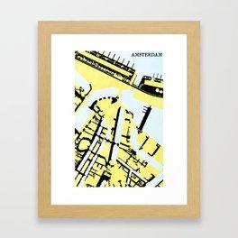 AMSTERDAM (MAPSTAT SERIES) Framed Art Print