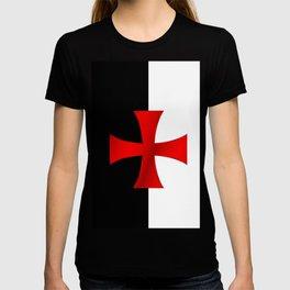 Dual color knights templar red cross T-shirt