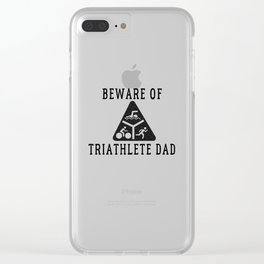 Funny Triathlete Dad Quote Clear iPhone Case
