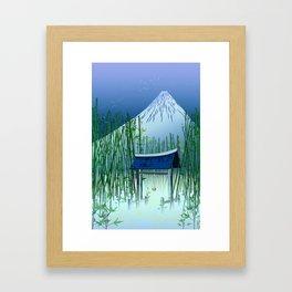 A moonless night Framed Art Print