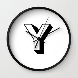 Letter Y ... As Easy As ... Wall Clock