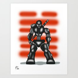 Robot Series - Snake-Eyes Model Art Print