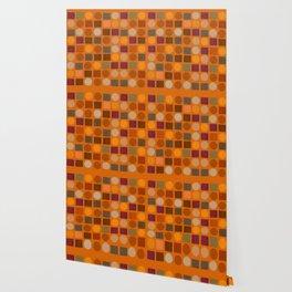 """""""Warm spots & squares (pattern)"""" Wallpaper"""