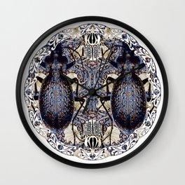 Art Nouveau  Beetles and Pimpernel Wall Clock
