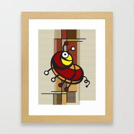 Deco Parrot Framed Art Print