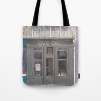 cafe Tote Bags featuring Cafe by Patty Haberman