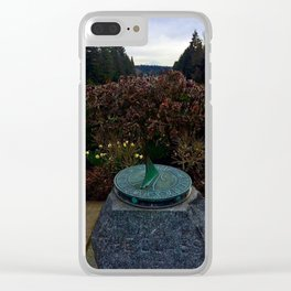UW Sun Dial Clear iPhone Case
