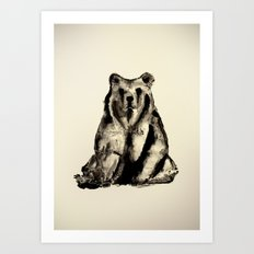 Bear - Ours  Art Print