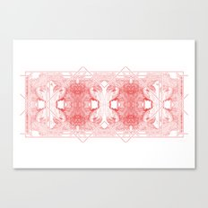 The Willow Pattern (Rose variation) Canvas Print