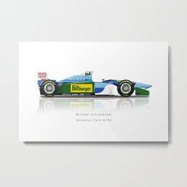 Michael Schumacher - Benetton B194 Metal Print