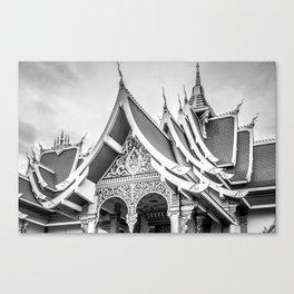 Rooflines of Wat That Luang Tai, Vientiane, Laos Canvas Print