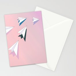 flying planes Stationery Cards