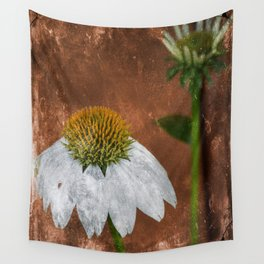 white cone flower Wall Tapestry