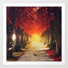 Autumn paradise. Art Print