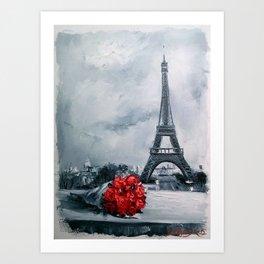 Bouquet for Parisienne Art Print