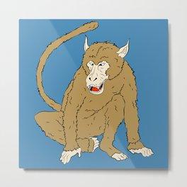 Macaco Metal Print