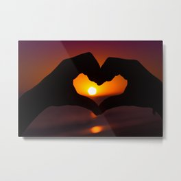 Heart shaped hands Metal Print