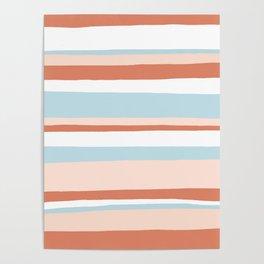 mesa, desert pastel stripes Poster