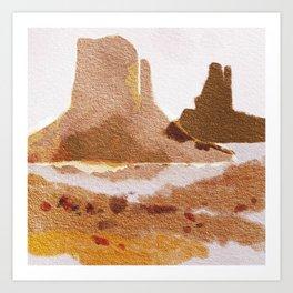 Canyon Watercolor Art Print