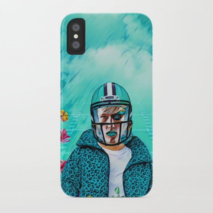 newest b21ab b9a2f Floral American Football iPhone Case