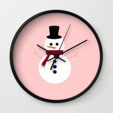 Snowman 2016 Wall Clock