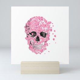 T-Shirt, Horror Skull Cherry Blossom, Japanese Sakura Mini Art Print