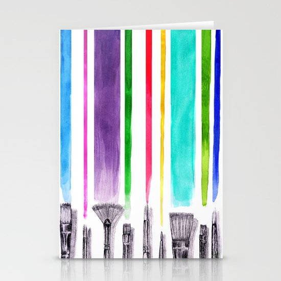 Paint brushes Stationery Cards