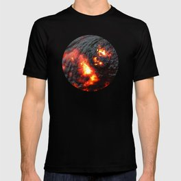 Flaming Seashell 4 T-shirt