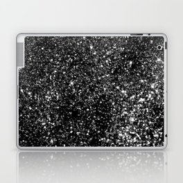 Black Night Glitter #1 #shiny #decor #art #society6 Laptop & iPad Skin
